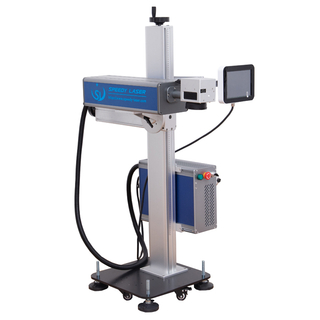Conveyor flying CO2 laser marking machine
